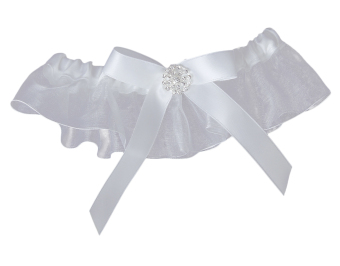 Harga Bow Wedding Garter Satin Toss (White)