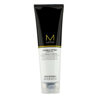 Harga Paul Mitchell Mitch Double Hitter Sulfate-Free 2-in-1 Shampoo & Conditioner 250ml/8.5oz - intl