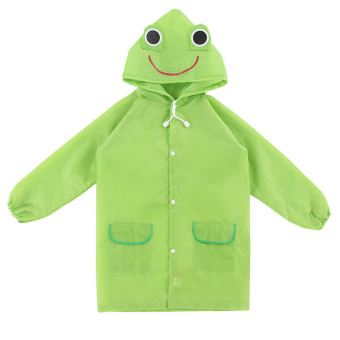 Harga PAlight Kids Cartoon Waterproof Rain Coat (green)
