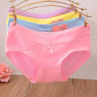 Harga 6 pcs/ladies and girls panties cute comfortable cotton briefs - intl