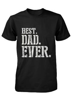 Harga GVM Best Dad Ever Stencil Style T-Shirt - Father's Day Gift Idea, Gift for Dad - intl