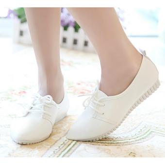 Harga JOY The new retro authentic pointed white shoes White - intl
