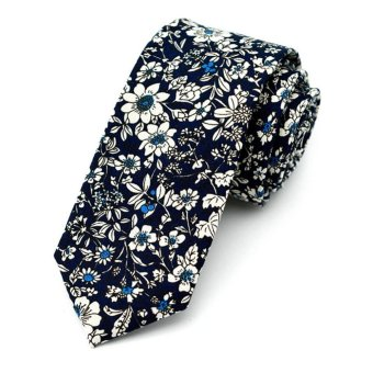 Harga Moonar Men Floral Ties Wedding Necktie Pocket Square Wedding Party Suit Accessories (MK06) - intl