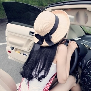 Harga female summer sun hat large brimmed sun hat uv bead korean sun hat bucket hats