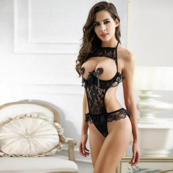 Harga MeiNiang Brand sexy lace Leotard Luru transparent sexy underwear temptation suit pajamas 7078 European and American foreign trade in Europe and America - intl