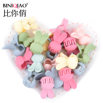 Harga Than you pretty rabbit children hairpin small gripper mini candy color cute kids girls small hair caught bangs clip