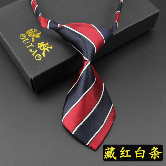 Harga [Years] korean version of the influx of short mini tie children tie baby boy boys jewelry gift boxes (Tibetan red and white stripe)