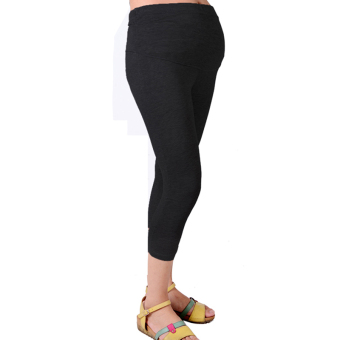 Harga Supercart Cropped Very Comfortable Maternity Cotton Leggings 3/4 Length Pregnancy ( Black ) - Intl