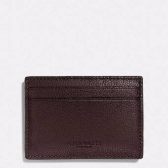 Harga Coach F75459 Money Clip Card Case in Calf Leather (Mahogany)