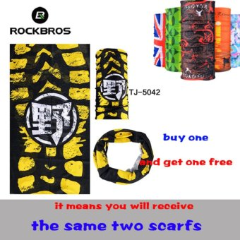 Harga ROCKBROS Summer Outdoor Sports Scarf Bicycle Equipment Headwear Seamless Ride Neck Mask Bike Magic Buff Cycling Headband Bandana (Buy One Send Anyone Free)(TJ-5042*2) - intl