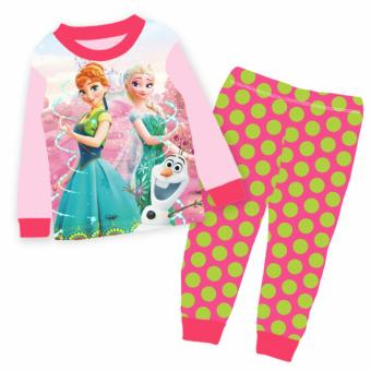 Harga Kids pyjams Frozen Elsa Anna Princess snowman sleepwear home clothes