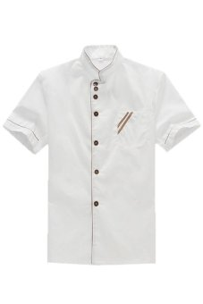 Harga LALANG Chef Uniform Short Sleeve Coat (White)