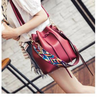Geraldine Elaine Bucket Bag (Red)