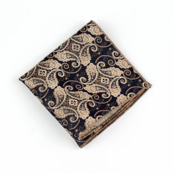 Harga Men Pocket Square Hankerchief Korean Silk Paisley Dot Floral Hanky Wedding Party Style16(Export)(INTL)