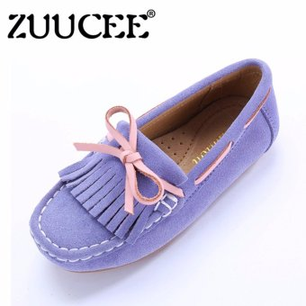 Harga ZUUCEE Girl's Fashion Single Shoes Tassel Princess Shoes Flat Shoes - intl