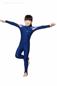 Harga Children's wetsuit girl diving suit long-sleeved surf snorkeling swimming clothes (for girl) - intl