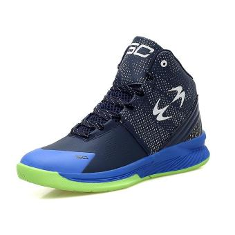 Harga Men Fashion Trend Shoes Basketball Shoes(Blue)(EU:36) - Int'l(EU:36) - Intl