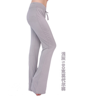 Harga Moonar Women Yoga Pant Gym Fitness Dancing Running Pant Soft Trouser (light grey)