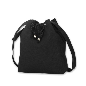Harga Women Fashion Trend Bucket Canvas Bag - Black - intl