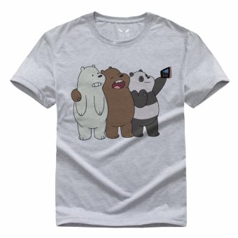 Harga We Bare Bears 1 Casual T-shirt(Grey) - intl