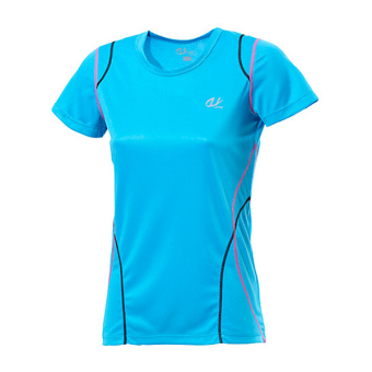 Harga [Handsport sports outdoor] women's short-sleeved running T-shirt Sports Fitness T-shirt (Sky blue)
