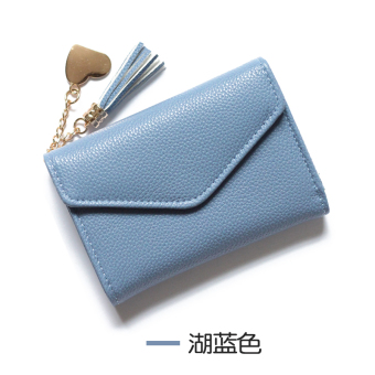 Harga Korean-style tassel solid color female wallet New style wallet