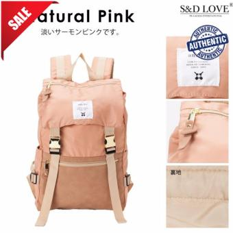 Harga 100% authentic GOLD BUCKLE BACKPACK ANELLO best seller (COLOR: PINK)