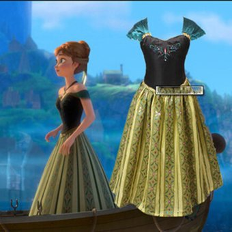 Harga Frozen Dress Elsa & Anna Summer Princess Dresses Brand Children Cosplay Clothing (Size 100)