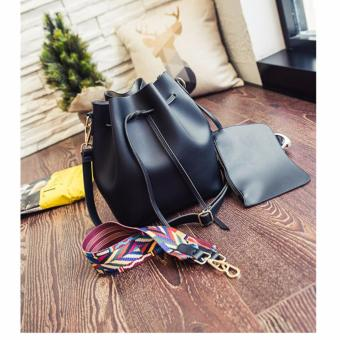 Geraldine Elaine Bucket Bag (Black)