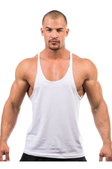 Harga HANG-QIAO Fitness Sports Vest Tank Top T-Shirts (White)