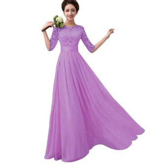 Elegant Women Long Dress Long Sleeve Ball Gown Formal Evening Party Cocktail Long Dress (EXPORT)