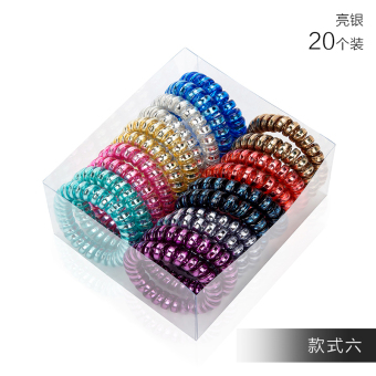 Harga Zhao Xuan telephone line hair ring candy color tousheng hair rope rubber band hair accessories hair tie hair s079 (Style six large 20 loaded)