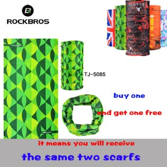 Harga ROCKBROS Summer Outdoor Sports Scarf Bicycle Equipment Headwear Seamless Ride Neck Mask Bike Magic Buff Cycling Headband Bandana (Buy One Send Anyone Free)(TJ-5085*2) - intl