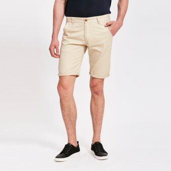Harga Stitch chino shorts (Stone) (EXPORT)