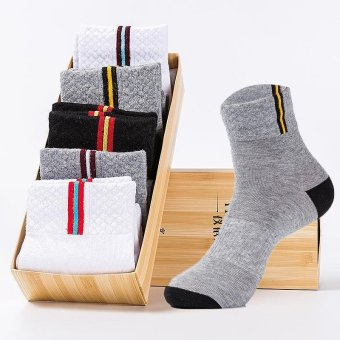 Harga Buy Buy Shop 5 Pairs Men Socks Sport Casul Stocking Assorted Stripes Males Comfortable Cotton - Intl