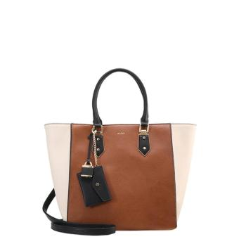 Harga ALDO Ametrine faux leather 2-way crossbody shoulder tote bag with pouch ( White Brown )