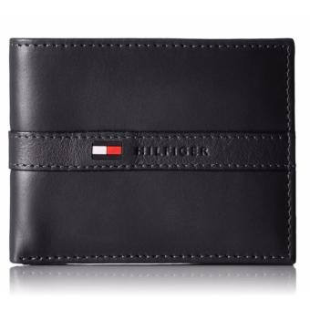 Tommy Hilfiger Men's Ranger Leather Passcase Wallet with Removable Card Case(black) - intl