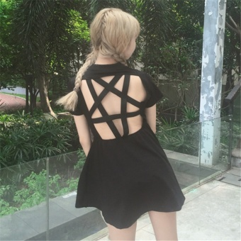Harga Small female house ~ College Wind small effort halter women's dress