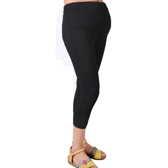 Harga New Cropped Very Comfortable Maternity Cotton Leggings 3/4 Length Pregnancy