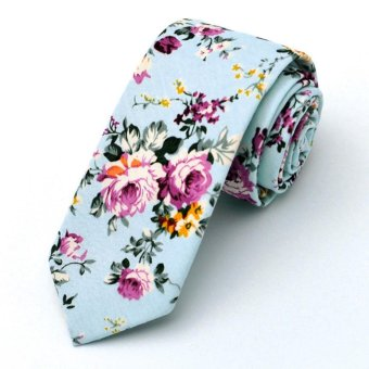 Harga Moonar Men Floral Ties Wedding Necktie Pocket Square Wedding Party Suit Accessories (MK12) - intl