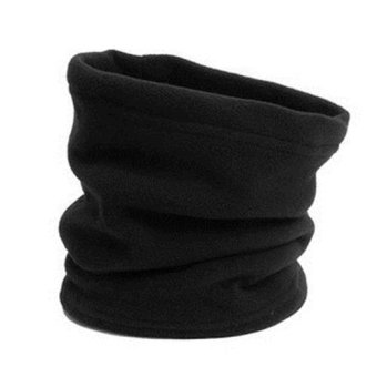 Harga Okdeals 4 in1 Thermal Fleece Scarfs Snood Neck Warmer Face Mask Beanie Hat Black