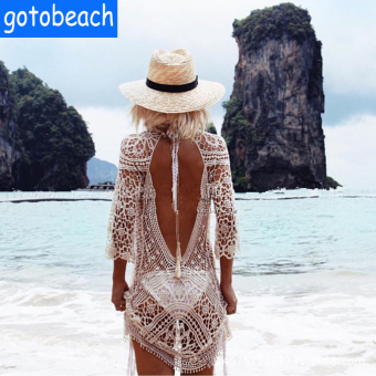 European and American New style crochet bikini cover-up
