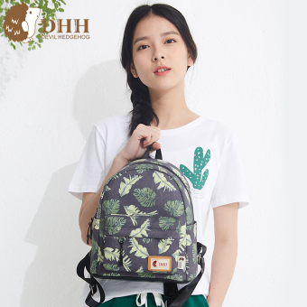 Harga DHH mini shoulder bag female Korean-style 2017 New style small fresh bag tide campus Print canvas backpack bag