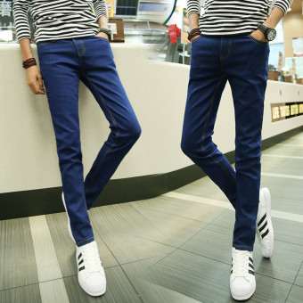 Harga Men's thin slimming stretch straight jean