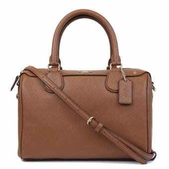 Harga COACH F57521 MINI BENNETT SATCHEL IN CROSSGRAIN LEATHER BROWN