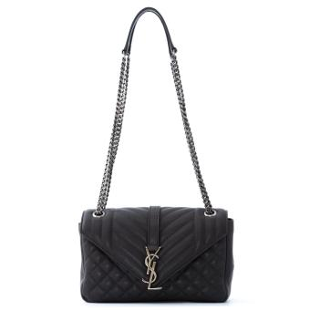 Harga Saint Laurent Classic Medium Monogram Satchel (Dark Anthracite)