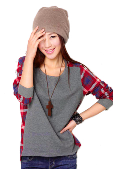 Harga Long Sleeve Crew Neck T-Shirt (Grey)