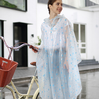 Harga Electric trolley men and ladies motorcycle adult transparent raincoat poncho car battery single 1 people riding bicycles (Helmet visors [bicycle]-blue snowflake)