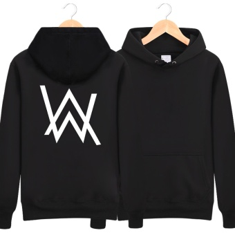 Harga Show Luo show Luo Allen Walker DJ sweater Alan Walker same paragraph clothes faded electric sound jacket tide hoodie (Black on the back)