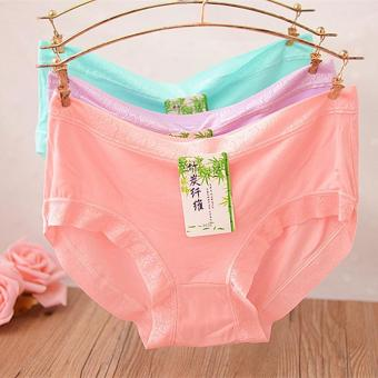 Harga 6 pcs/lady carry buttock underwear Pure cotton modal Panties - intl
